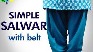 Simple Salwar with Belt- Cutting & Stitching