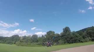 getlinkyoutube.com-Custom Mini FPV Hexacopter 226mm LOS - 3100kv 1306 on 3s - Armattan