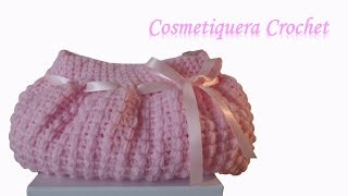 getlinkyoutube.com-Cosmetiquera Crochet