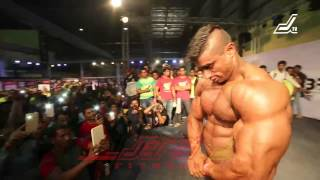 getlinkyoutube.com-GUEST POSE BY MR WORLD. MR INDIA, MR PUNJAB SHERA AT JERAI CLASSIC 2015, BODYPOWER EXPO