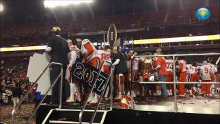 getlinkyoutube.com-The Clemson University football team and its fans celebrate the National Championship on Tuesday mor