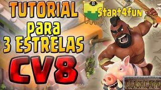 TUTORIAL ATAQUE 3 ESTRELAS CV8 - CORREDORES 100%