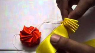 getlinkyoutube.com-How to make a garland with multicolour satin ribbons