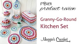 getlinkyoutube.com-Granny-Go-Round Kitchen Set Crochet Pattern Product Review PB181