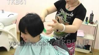 getlinkyoutube.com-☆ Haircut #559  Short BOB ショートボブ
