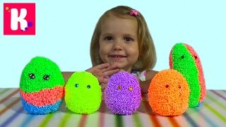 getlinkyoutube.com-Животные заводные сюрприз из шарикового пластилина игрушки animals toys in magic surprise eggs