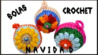 getlinkyoutube.com-Como hacer Bolas en crochet para Navidad tutorial paso a paso!