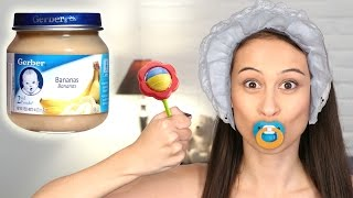 getlinkyoutube.com-BABY FOOD CHALLENGE || Let's Eat