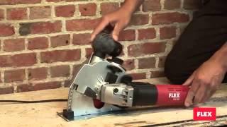 getlinkyoutube.com-MS 1706 FR Штроборез FLEX для толкательной и тянутельной прорезки кирпичных и бетонных стен и полов