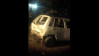 immediate scene after bomb blast at  imambargah gareseline in rawalpindi 17 dec 2013