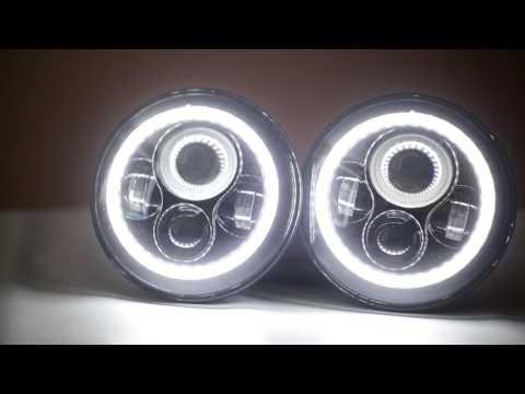 Фары универсальные светодиодные 7 дюйма (Нива,Уаз,Jeep,Toyota,Nissan)