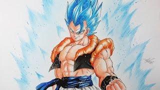 getlinkyoutube.com-Drawing Gogeta Super Saiyan God Super Saiyan - Gogeta Super Saiyan Blue