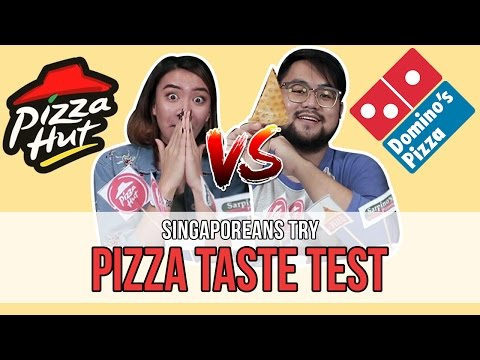 Singaporeans Try: Singapore Delivery Pizza 'Blind' Taste Test | EP 95