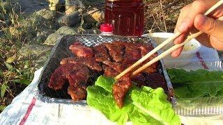 getlinkyoutube.com-続・河原でひとり焼肉 - YAKINIKU BBQ part2
