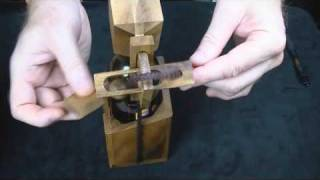 getlinkyoutube.com-Wine or Beer Bottle wood brain teaser Puzzle - How to get the Bottle OUT -CreativeCrafthouse.com
