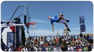 Face Team Acrobatic Slam Dunk shows #NBA