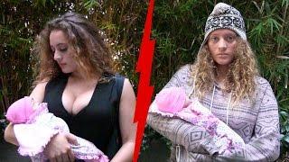 getlinkyoutube.com-Rich Mom VS  Homeless Mom Experiment!