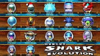 getlinkyoutube.com-Hungry Shark Evolution - All Shark Babies Montage