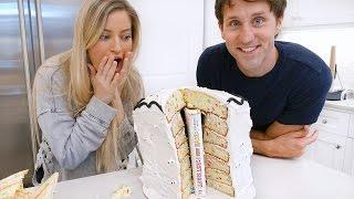 Baking a BOOK in a CAKE with Josh Sundquist!!! 📚🎂   iJustine
