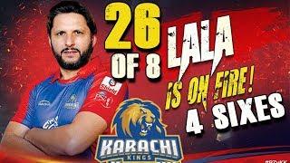 Shahid Afridi is on Fire Batting 4 Sixes in PSL | Karachi Kings Vs Peshawar Zalmi | HBL PSL 2018