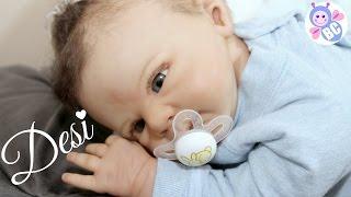 getlinkyoutube.com-Reborn Changing Feeding | Super Cute Baby Desi | Pretend Roleplaying | Buterfly Cuties