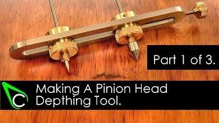 getlinkyoutube.com-Home Machine Shop Tool Making - Machining A Pinion Head Depthing Tool - Part 1