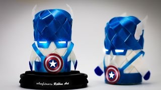 getlinkyoutube.com-วิธีพับเหรียญโปรยทาน กัปตันอเมริกา (Captain America) by ลูกน้ำ