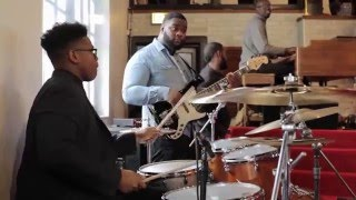15-year-old Jaylan Crout Playing Drums in Church (Part 1)