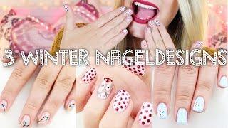 getlinkyoutube.com-3 schöne WINTER Nageldesigns ♡ #BEEcember ❄   Dagi Bee