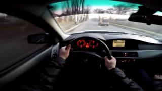 getlinkyoutube.com-Tuned BMW e60 530d Crazy Driving 200 km/h