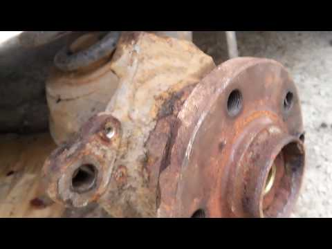 Замена подшипника ступицы бес спец инструмента VW