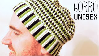 GORRO UNISEX a Crochet | How to crochet a UNISEX HAT (BEANIE)