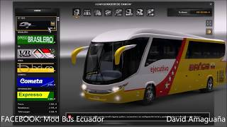 getlinkyoutube.com-Euro Truck Simulator 2 - Marcopolo G7 Paradiso, Skines Ecuatorianos, 1.17 - 1.20