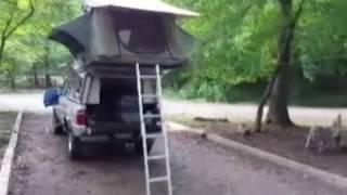 getlinkyoutube.com-Ranger Pickup Camping - White Rock Mountain State Park, Arkansas