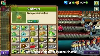 getlinkyoutube.com-Plants vs Zombies 2 - Scrapped and Removed Level: Mesozoic Marsh Day 1