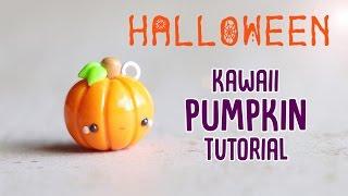 getlinkyoutube.com-Easy Kawaii Pumpkin│Polymer Clay Halloween Tutorial