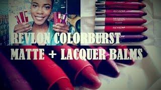getlinkyoutube.com-REVIEW! Revlon Colorburst Matte & Lacquer Balms + Lip Swatches #thepaintedlipsproject