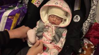 getlinkyoutube.com-Reborn Baby Zoey's Morning Routine! Getting Ready to go Shopping! It is Cold Out Today!
