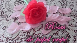 getlinkyoutube.com-[DIA DE LAS MADRES] Rosas de papel crepé