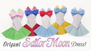 getlinkyoutube.com-Origami Sailor Moon Dress Tutorial 👗 DIY 👗