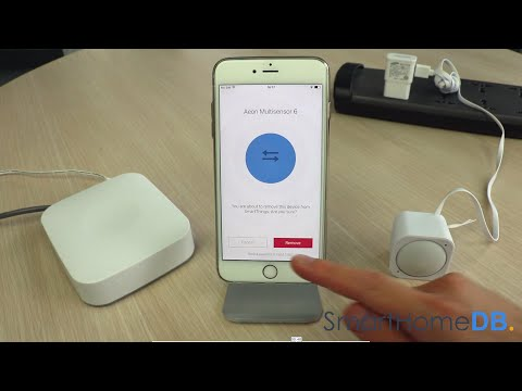 HOW-TO: Unpair and Disconnect your Samsung SmartThings Hub from an Aeotec MultiSensor 6