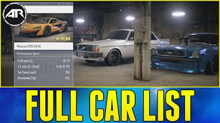 getlinkyoutube.com-Need For Speed : FULL CAR LIST & PRICES!!! (Best Cars To Buy In NFS 2015)