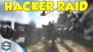 getlinkyoutube.com-Ark Survival Evolved Hacker Raid  Part 2 (20 MAN RAID)