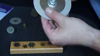 getlinkyoutube.com-Алмазные отрезные круги диски фрезы из электробритвы СССР абразивные сетки