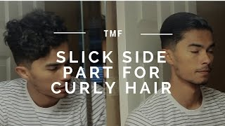 Slick Side Part for Curly Hair | My Daily Hair Style Routine