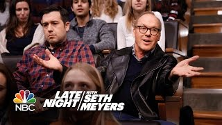 Michael Keaton Didn't Know He Was a Guest on Late Night