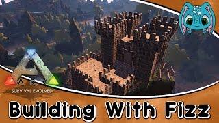 ARK:Survival Evolved Building w/ Fizz :: PVP Castle Build!!