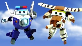 getlinkyoutube.com-Super Wings Robocop Transforming Planes Toys 출동슈퍼윙스 신제품 장난감  Aviones Avions самолеты 비행기