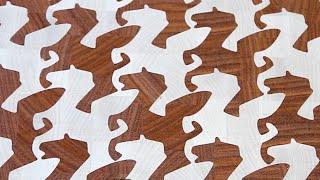 "getlinkyoutube.com-Making M.C.Escher ""Pegasus"" end grain cutting board"