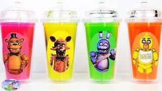 getlinkyoutube.com-Five Nights at Freddys FNAF Slime Surprise Cups Surprise Egg and Toy Collector SETC